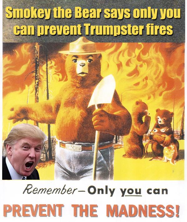 Smokey Bear and Donald Trump